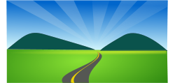 clipart, memory lane, widing road and hills