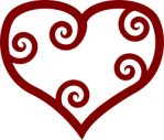 red valentine's heart to replace Mills & Boon logo