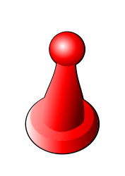 red game marker, clipart from OpenClipArt