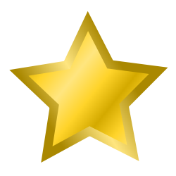 gold star, from OpenClipArt
