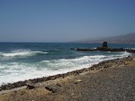 stretch of black sand at Tenerife, copyright Leah Osbourne 2011