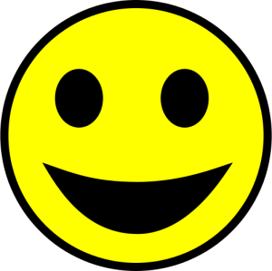 Yellow happy smile from wikimedia commons