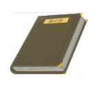 closed diary clipart from OpenClipArt
