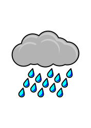 Raincloud with rain from OpenClipArt