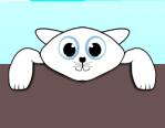 cheerful happy kitty/kitten OpenClipArt