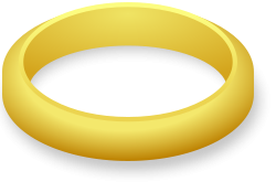 golden ring (the one ring?) from OpenClipArt