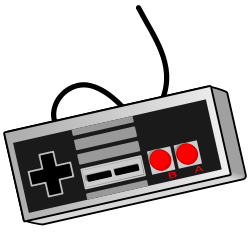 Old school video game controller from OpenClipArt