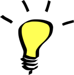 bright idea yellow light bulb, OpenClipArt