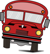 big red bus OpenClipArt