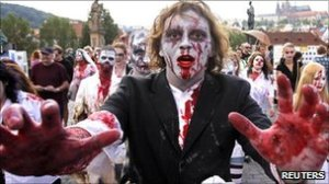 Picture of zombies in Leicester