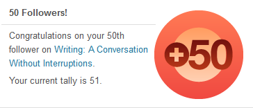 Wordpress 50 followers notification