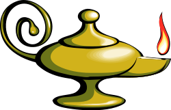 OpenCLipArt - Magic lamp