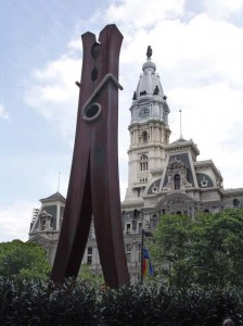 Giant clothespin in Philadelphia
