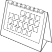 blank calendar from OpenClipArt