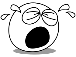 Crying face from OpenClipArt