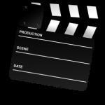 black and white Movie Clapper Board