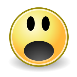 gasping/shocked/surprised face OpenClipArt