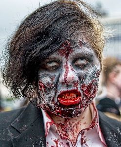 bloodied zombie from wikimedia commons