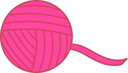 pink ball of yarn/string from OpenClipArt