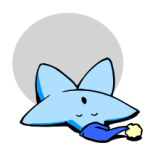 Sleeping blue star from Wikimedia Commons; LadyofHats