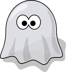 cartoon ghost from OpenClipArt