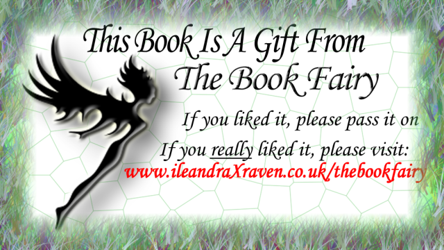 Sticker for book fairy giveaway books