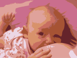image of breastfeeding child from OpenClipArt