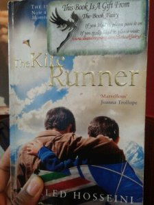 The Kite Runner book with Book Fairy Sticker in place