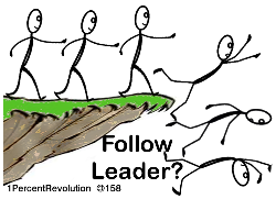 Following The Leader from OpenClipArt