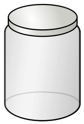Empty glass jar from OpenClipArt