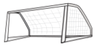 Football goal posts from OpenClipArt