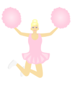 Cheerleader from openclipart