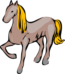 OpenClipArt brown horse