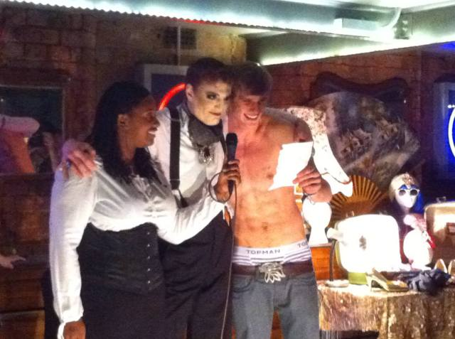 Picture of Raven, Reuben and Guy at ElectroTease boylesque night (Oct 18 2013)