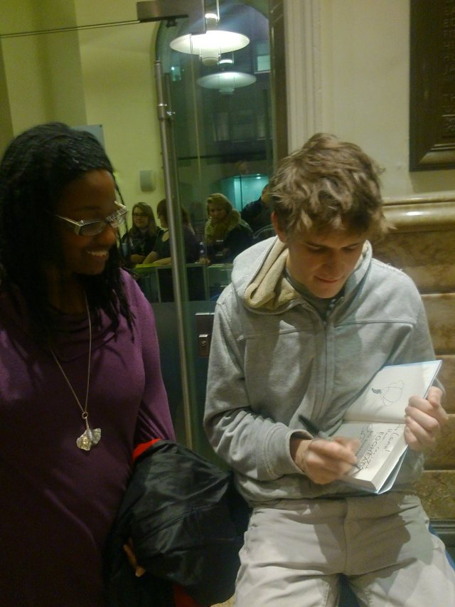Bo Burnham signs and autographs my copy of his book of poetry