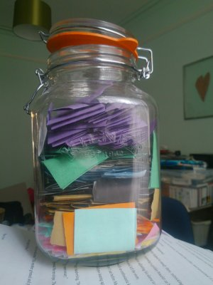 my good things jar as of the end of November 2013
