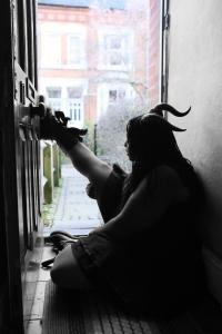 Raven In A Door