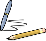a pen and a pencil