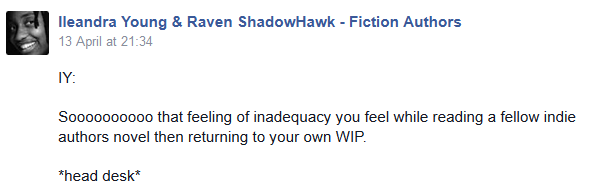 Update on Facebook re reading other indie authors