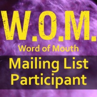 Word of mouth mailing list button