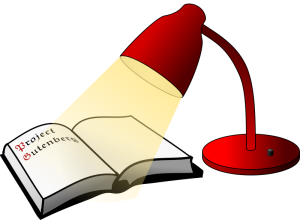 book and reading light form openclipart.com