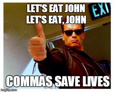 commas save lives meme