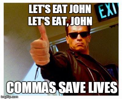 commas save lives meme