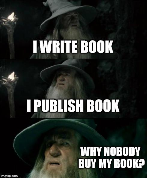 why nobody buy my book meme