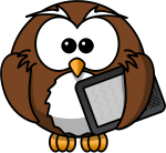 owl with ereader