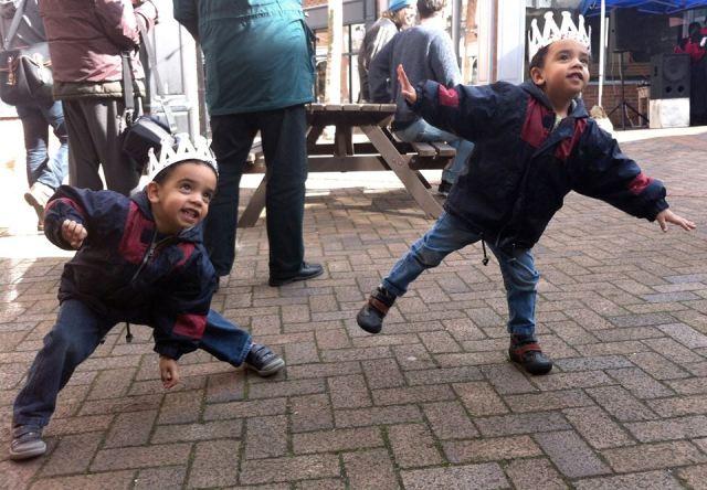 Strike a post photo - my boys