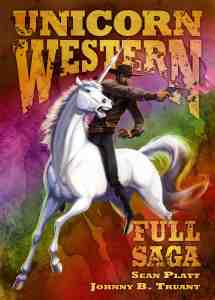 Cover art for full saga unicorn western