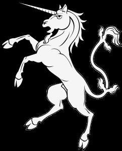 angry standing unicorn