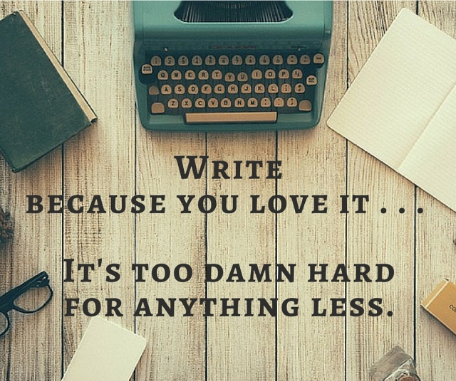 write because you love it meme