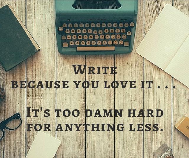 write because you love it meme